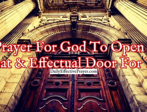 Prayer For God To Open a Great and Effectual Door For You