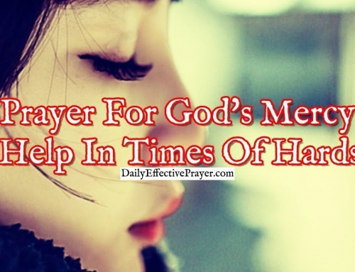 Prayer For God's Mercy To Help In Times Of Hardship