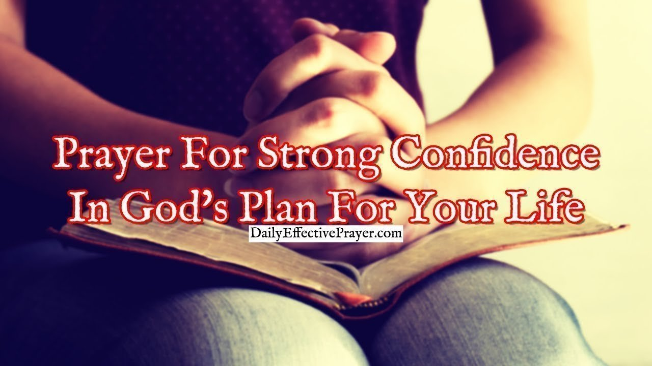 Pray this to help your confidence grow about God's plan for your life.