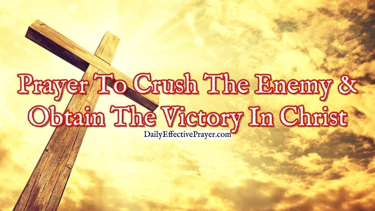 Pray this to help defeat the devil and get the victory through Jesus.