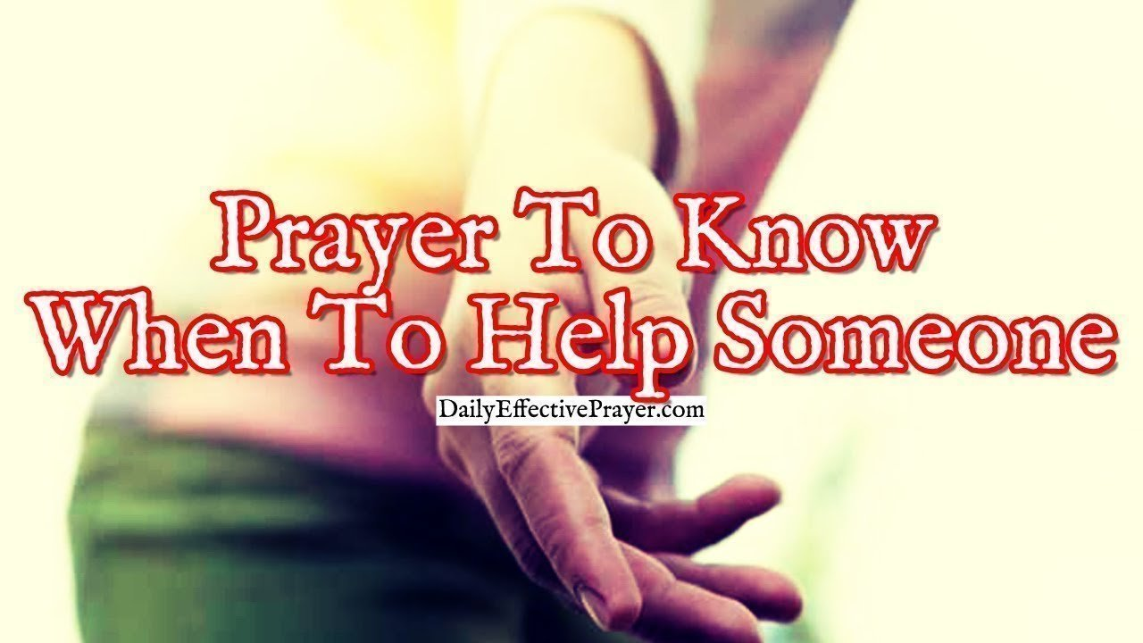 Pray this short prayer for direction about helping someone.