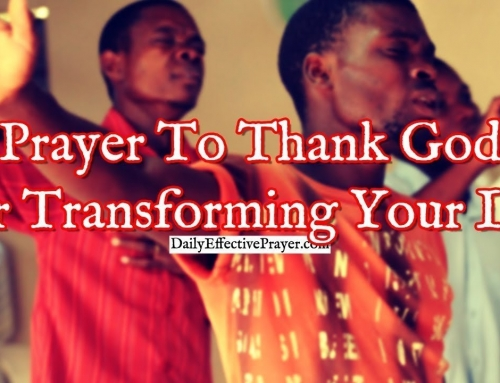 Prayer To Thank God For Transforming Your Life