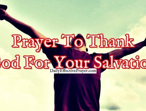 Prayer To Thank God For Your Salvation