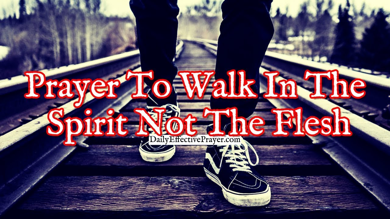 Pray to walk in the spirit according to God's will.