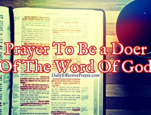 Short Prayer To Become a Doer Of The Word of God