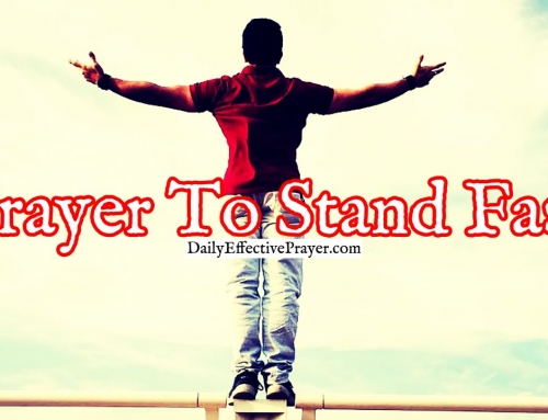 Daily Prayer To Stand Fast and Hold Onto God's Hand