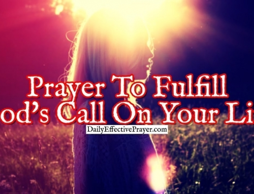 Prayer To Fulfill God's Call On Your Life
