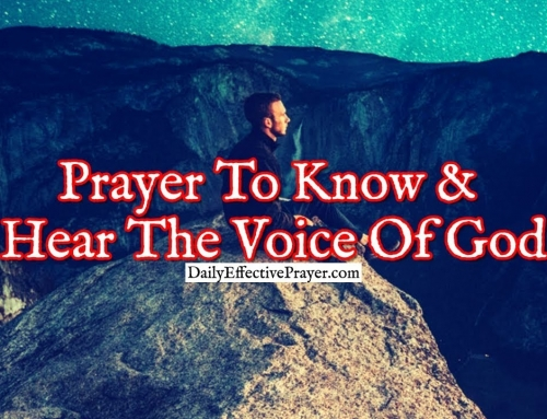 Prayer To Know and Hear The Voice Of God