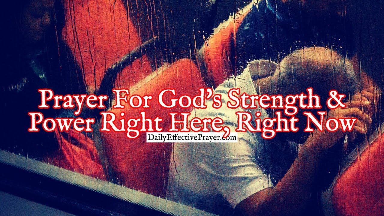 Pray this if you need the Lord's strength and power right now.