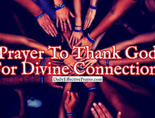Short Prayer To Thank God For Divine Connections