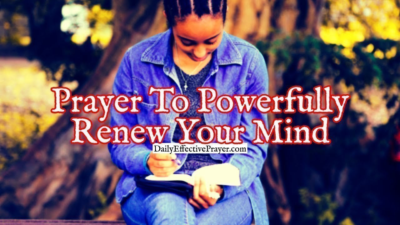 Pray this daily to help renew your mind.