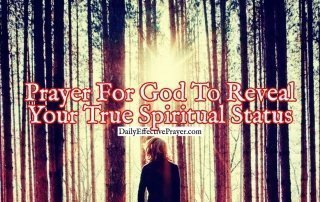 Pray this to discover your true spiritual status with God.