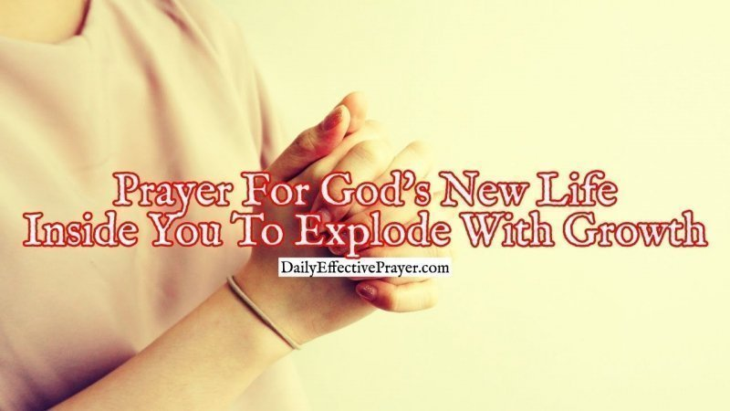 Pray this for the new life of God in you to grow.