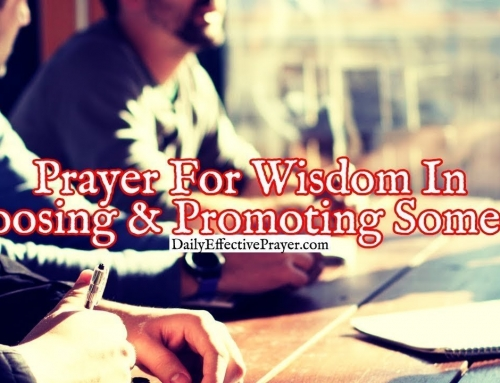 Prayer For Wisdom In Choosing and Promoting Someone
