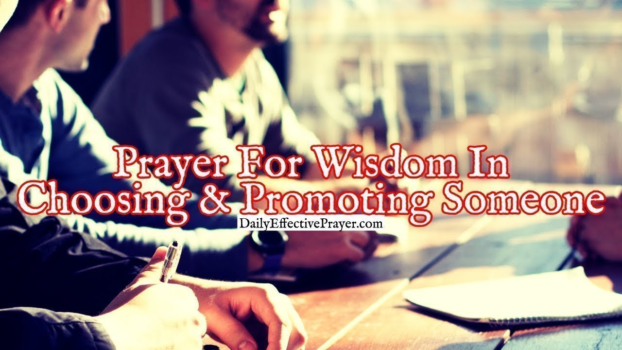 Pray this for help in knowing when to promote someone.