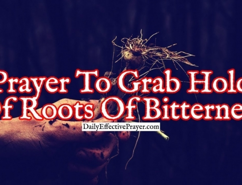 Prayer To Grab Hold Of Roots Of Bitterness and Pull Them Out Of Your Life