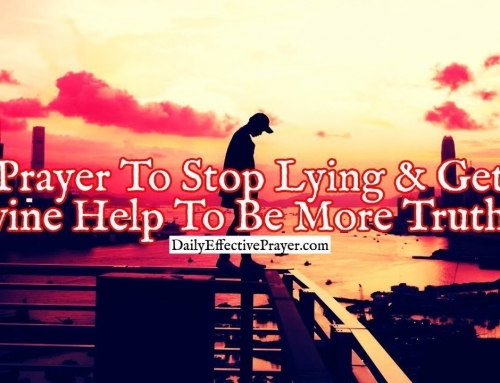 Prayer To Stop Lying and Get Divine Help To Be More Truthful