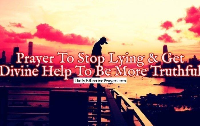 Pray this prayer to stop lying.