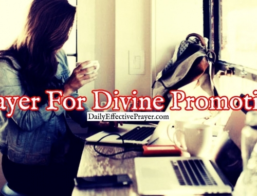 Prayer For Divine Promotion In Your Life