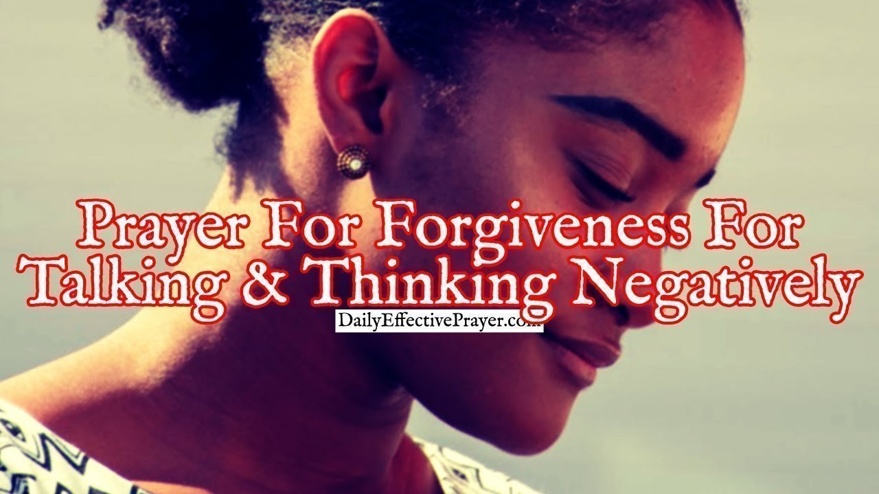 Pray this for help against being negative.