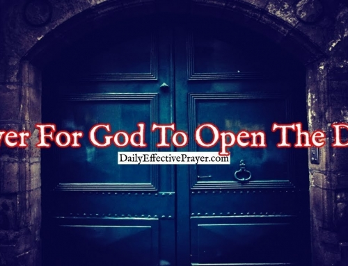 Prayer For God To Open The Door To The Next Phase In Your Life