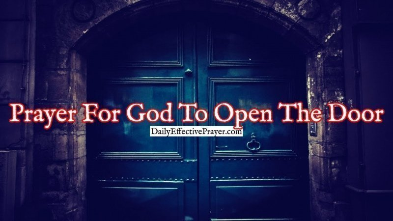 Pray this for the Lord to open doors in your life.