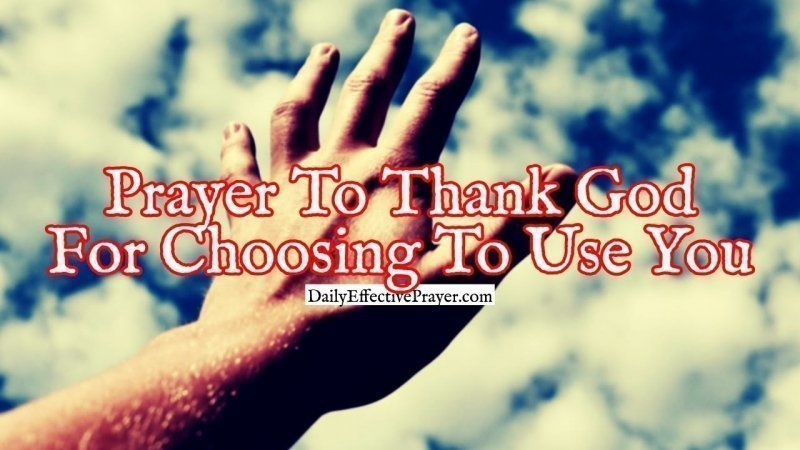 Pray this to thank God for everything.