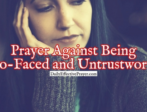 Prayer Against Being Two-Faced and Untrustworthy