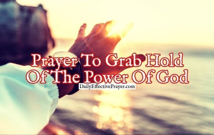 Pray this to walk in the power of the Lord.
