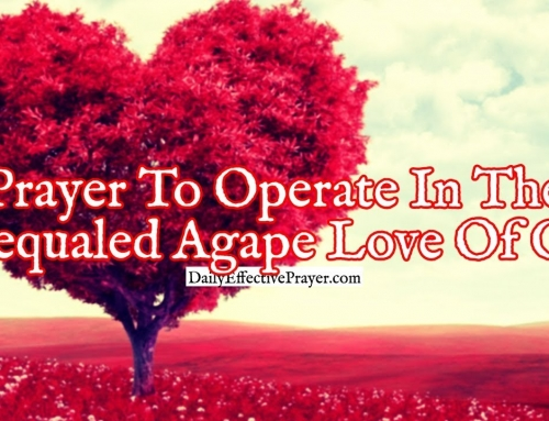 Prayer To Operate In The Unequaled Agape Love Of God