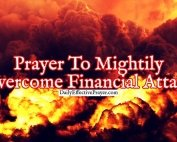 Pray this to help overcome financial attacks.