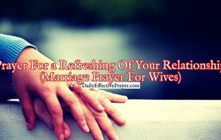 Pray this to refresh your marriage relationship.