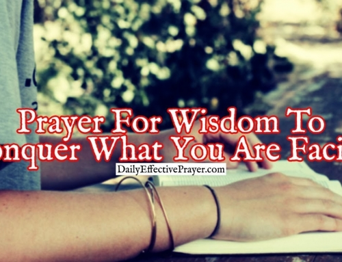 Prayer For Wisdom To Conquer What You Are Facing
