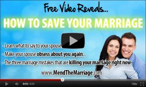 How to save your marriage video.