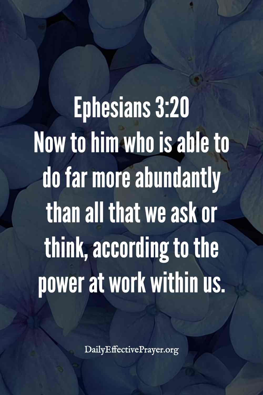 Abundance scripture - Ephesians 3:20.