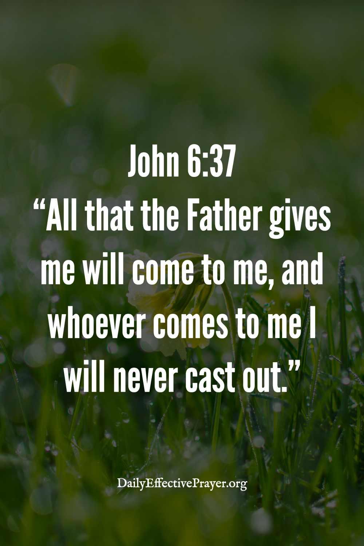 Accepting bible scripture verses.