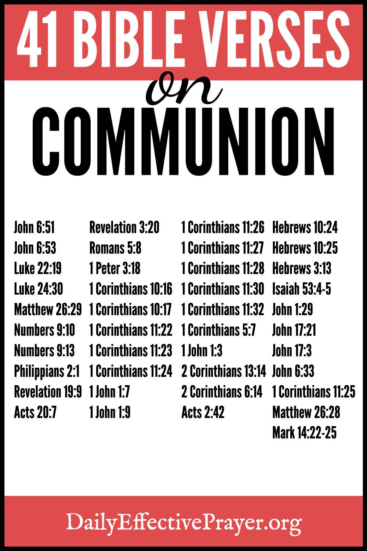 Bible verses on communion.