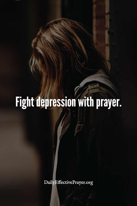 Healing prayer for depression.
