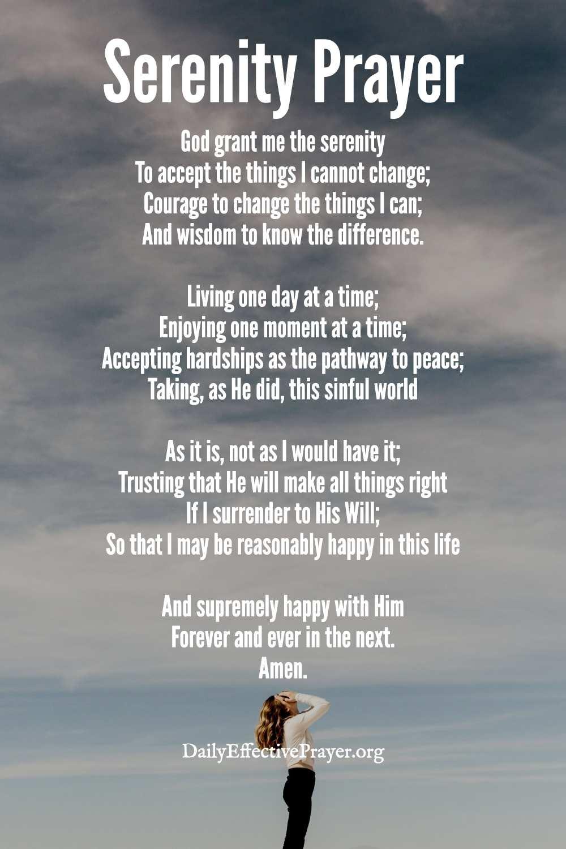 The serenity prayer full version.